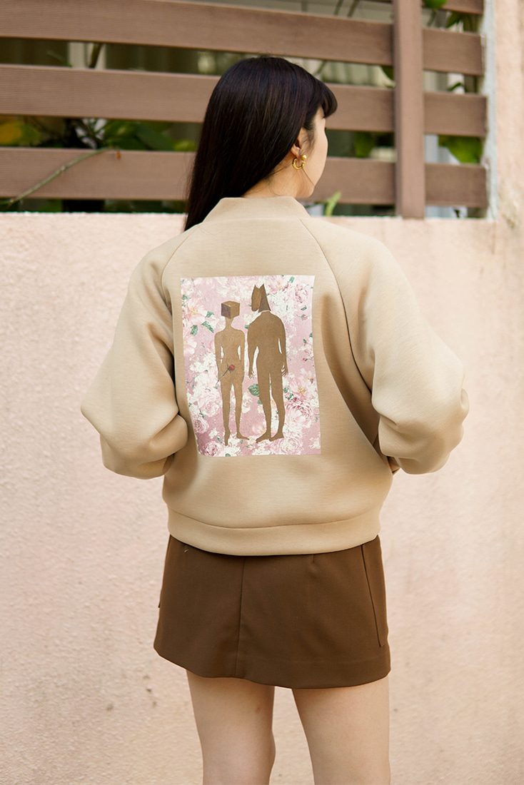 [TAV X Suhyun Kim] Baseball Jacket (Brown) Limited edition