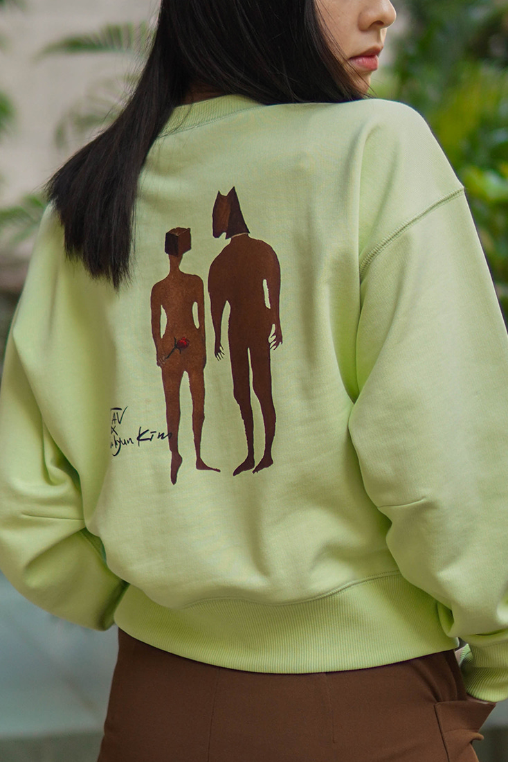 [TAV X Suhyun Kim] Sweatshirt (Lime) Limited edition