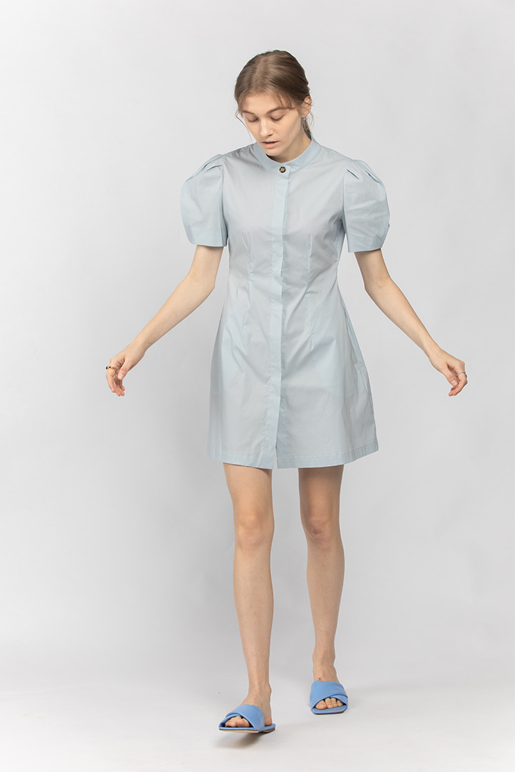 Cotton Button-Down Mini Dress