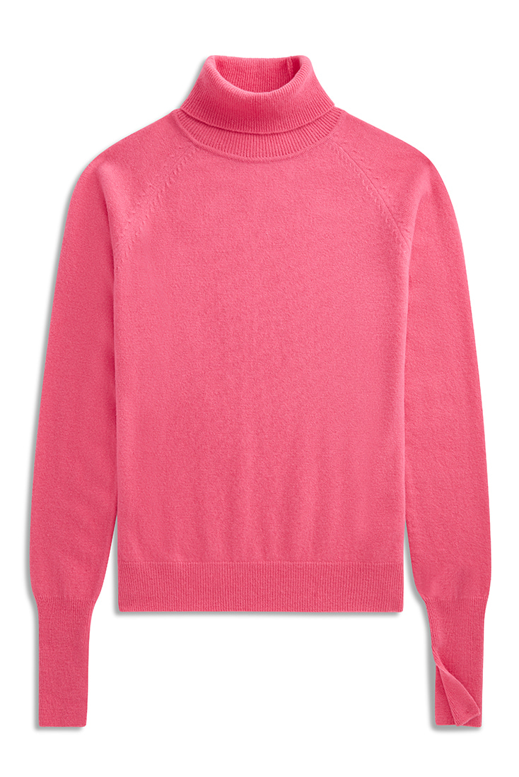 Soft Mohair knit pullover - Pink