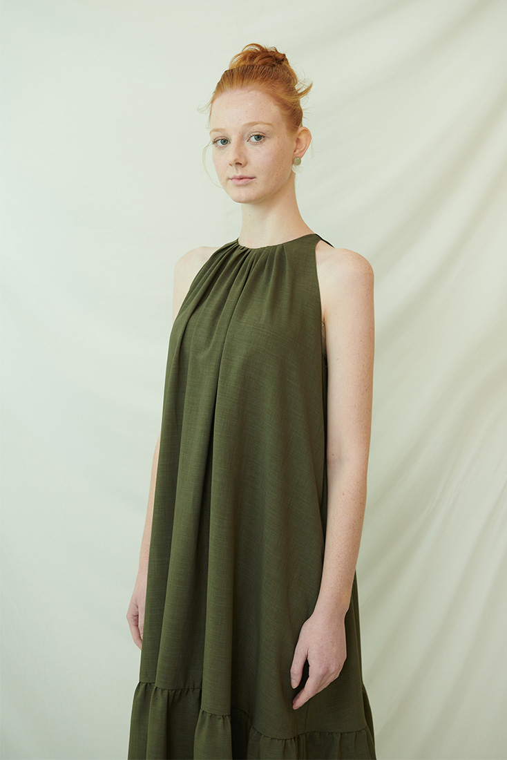 Peel Dress - Khaki